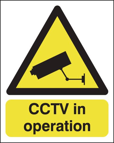 250 x 200 mm Cctv In Operation Safety Signs