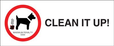 100 x 250 mm clean it up maximum penalty �500 anti glare 2 mm plastic
