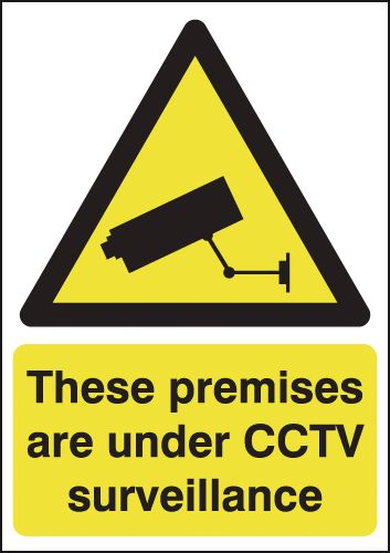 A5 these premises are under cctv face adhesive vinyl