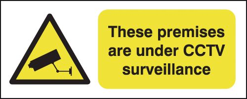 100 x 250 mm These Premises Are Under Cctv Safety Labels