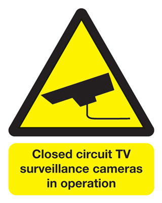 250 x 200 mm closed circuit tv surveillance self adhesive vinyl labels.