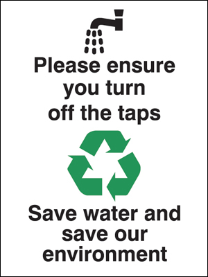 Eco signs - 200 x 150 mm please ensure you turn off the