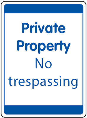 UK security signs - 400 x 300 mm private property no tresspassing