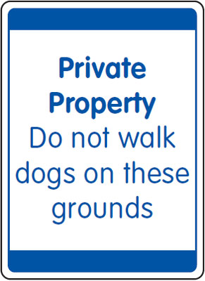 UK security signs - 400 x 300 mm private property do not walk