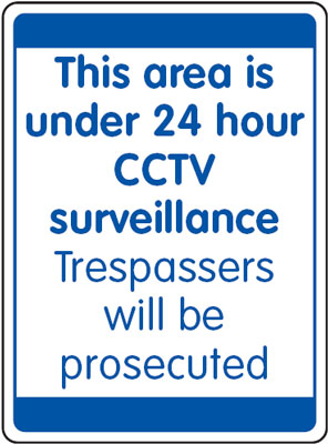 UK security signs - 400 x 300 mm this area is under 24 hour cctv
