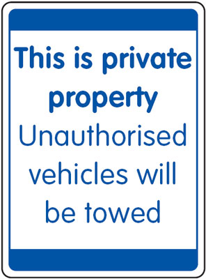 UK security signs - 400 x 300 mm this is private property