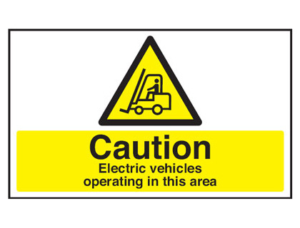 300 x 500 mm caution electric vehicles are anti slip self adhesive label