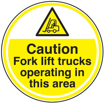 450Diameter caution fork lift trucks anti slip self adhesive label