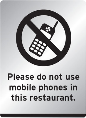 100 x 250 mm do not use mobile phones