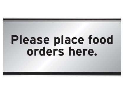 200 x 400 mm please place food orders here