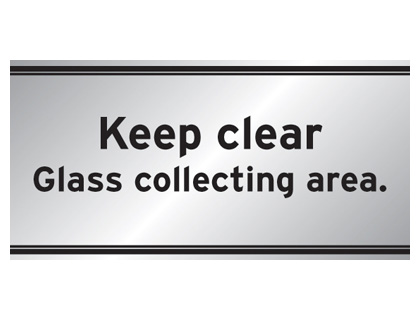 200 x 400 mm keep clear glass collecting area