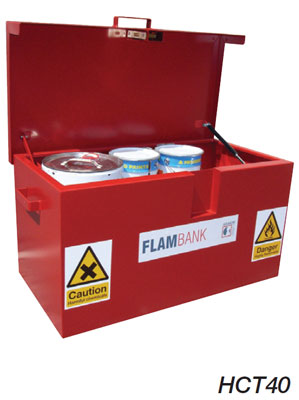 Flammable storage vault site chest 760 x 1275 x 675