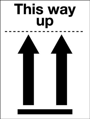 100 x 75 mm this way up (pictorial)