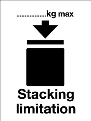 100 x 75 mm stacking limitation (pictorial)