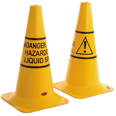500 mm danger hazardous liquid spill cone