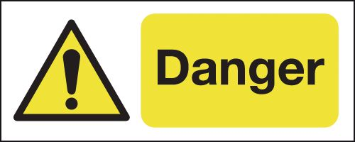 100 x 250 mm Danger Safety Signs
