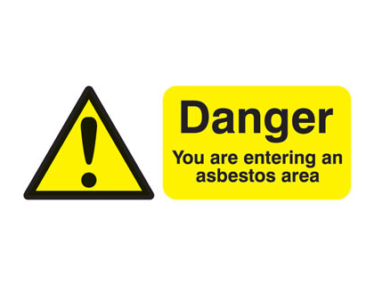 UK hazard signs - 100 x 250 mm danger you are entering an self adhesive vinyl labels.
