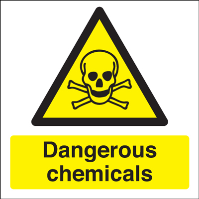 100 x 100 mm NG dangerous chemicals nite glo self adhesive class B