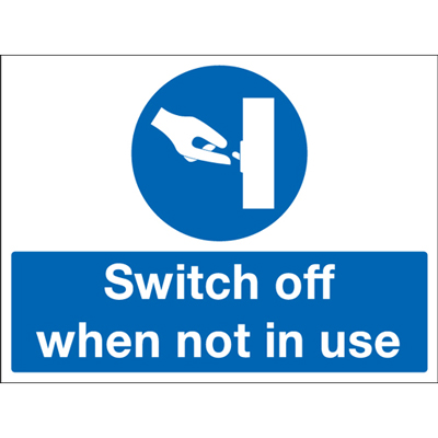 450 x 600 mm switch off when not in use self adhesive rigid plastic 1.2 mm