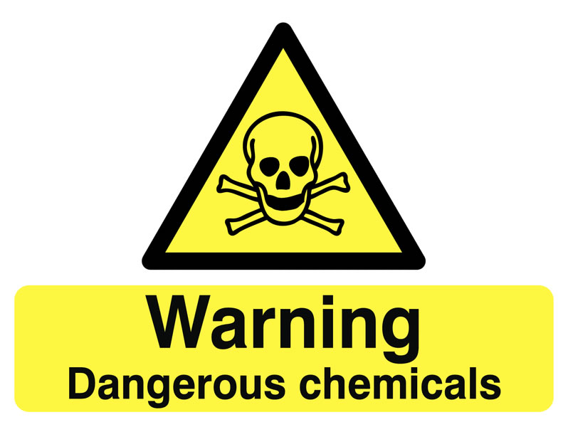 450 x 600 mm Warning Dangerous Chemicals Safety Signs