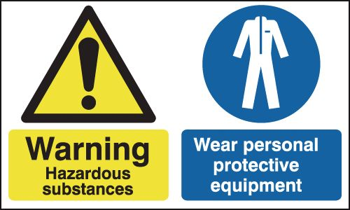 300 x 500 mm Warning Hazardous Substances Safety Signs