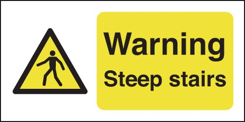 100 x 250 mm warning steep stairs window cling