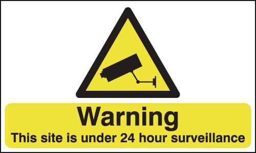300 x 500 mm Warning This Site Is Under 24 Safety Labels