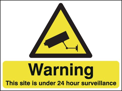 450 x 600 mm Warning This Site Is Under 24 Safety Signs