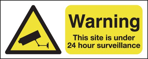 100 x 250 mm Warning This Site Is Under 24 Safety Labels