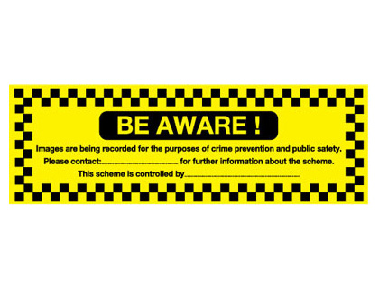 150 x 300 mm be aware images are being self adhesive vinyl labels.