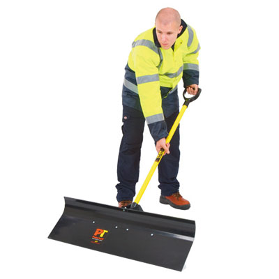 heavy duty snow pusher black