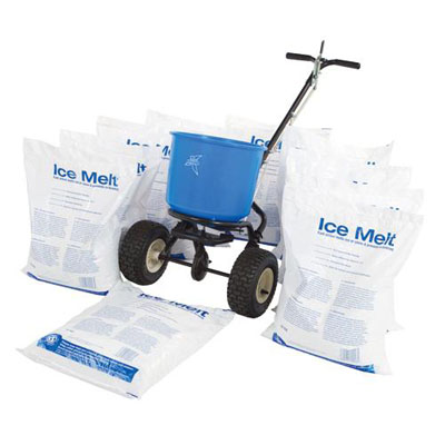 ice melt kit: 10 bags 1 spreader 1