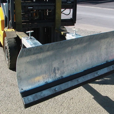 fork lift snow plough 1220 mm wide 122 mm