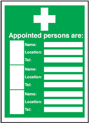327 x 240 mm appointed persons are