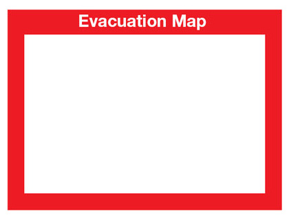 updateable evacuation plan holder