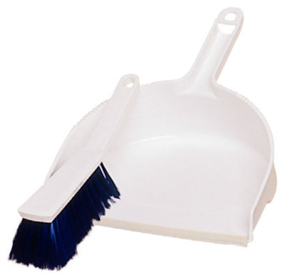 Janitorial supplies - dustpan brush blue