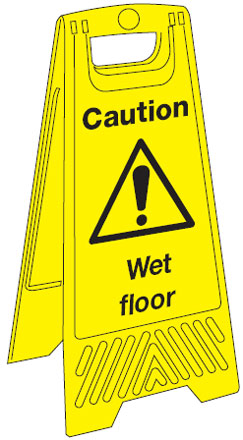 680 x 300 mm caution wet floor