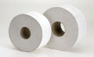 1 ply white centre feed rolls 6 pack