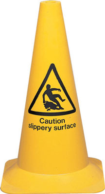 pedestrian warning cone