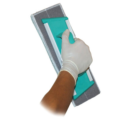 clean glass hand frame with velcro