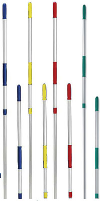 Janitorial supplies - telescopic colour coded alu. handle blue
