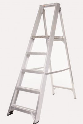 Step ladders - 1220 mm extra durable aluminium platform steps