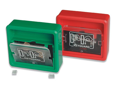 Fire alarms - key guard green