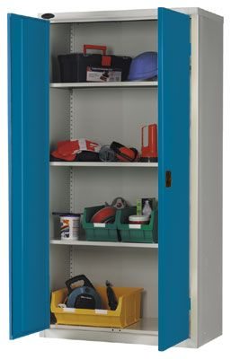 Lockers and cabinets - 1015 x 915 x 460 blue industrial cupboard blue