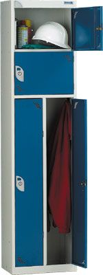 Lockers and cabinets - 1800 x 450 x 450 mm blue duo locker blue