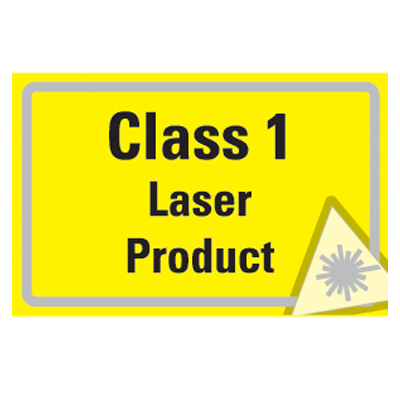 58 x 90 CLASS 1 laser product