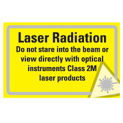 Radiation signs - 58 x 90 Laser Radiation 2M