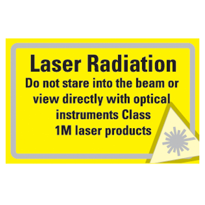 Radiation signs - 58 x 90 Laser Radiation 1M