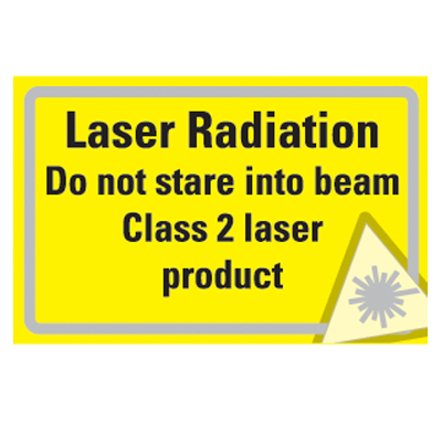 58 x 90 CLASS 2 laser products