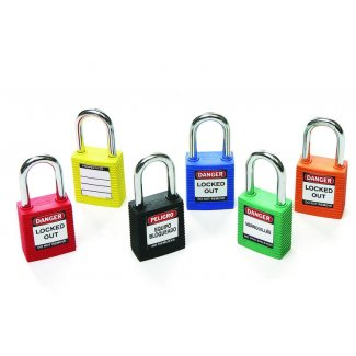 Padlocks - lock out safety padlock blue each